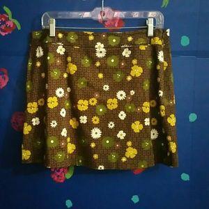 Vintage Express MOD Floral Skirt Size 13/14